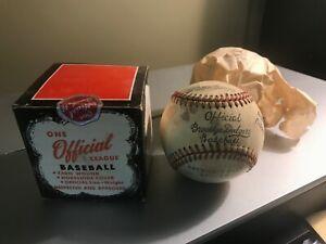 1950s Rawlings Brooklyn Dodgers Amateur Baseball Foundation Baseball w/ Box