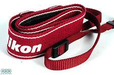 "Nikon 1.25"" Wide Neck Strap (Red/White Printed ""Nikon"")"