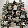15 CHRISTMAS CROSS STITCH BEADED TREE ORNAMENTS ~~~~ VINTAGE PATTERNS