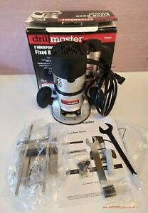 Drill Master 2HP Fixed Base Router - Slightly used in original box