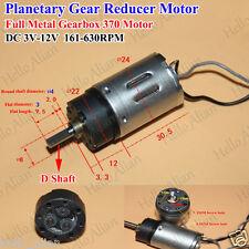DC 3V-12V 630RPM Mini Full Metal Gearbox Motor Planetary Gear Reduction Motor