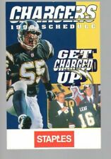 1998 SAN DIEGO CHARGERS POCKET  SCHEDULE - JUNIOR SEAU