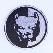 Embroidered iron on sew on applique motif animnal patches badges pitbull -staffy