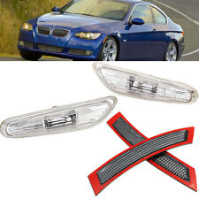 For BMW E92 E93 Pair Front Bumper Reflectors +Turn Indicator Side Marker Light