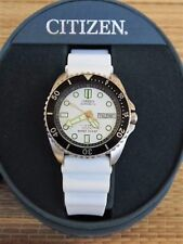 OLD STOCK DEMONSTRATOR CITIZEN 200M STAINLESS DIVER WATCH DOUBLE WHITE BOXED SET