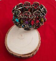 Scottish Celtic Agate Style Vintage stretch Bracelet bangle
