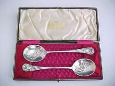 1880 Matched Set of Silver Wedding Spoons by A. Saunders London Sydney