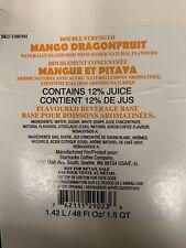 3 Sealed Starbucks Mango Dragonfruit Refresher Juice Base Exp Dec 2020