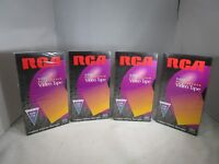 RCA Hi-Fi Stereo-T-120-Blank  VHS Video Tapes (Lot of 4)**NEW & SEALED**