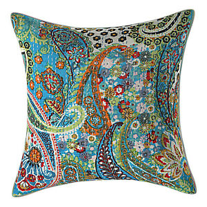 Home Decor Embroidered Cushion Cover Indian Bedding Sofa Pillow Case Cover