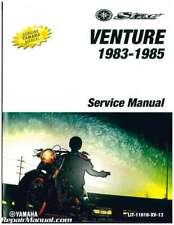 1983-1985 Yamaha Xvz1200 Venture Royale Motorcycle Service Manual : Lit-11616.