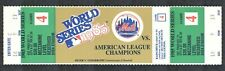 1985 NEW YORK METS WORLD SERIES Full PHANTOM TICKET NMMT Mezzanine Level