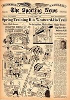 Sporting News 3/1/1961 Baseball magazine, Spring Training Hits Westward-Ho Trail