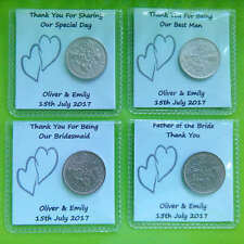 Lucky Sixpence Wedding Favours Personalised Civil / Same Sex Wedding