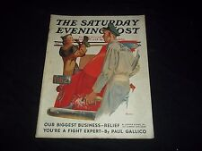 1937 APRIL 3 SATURDAY EVENING POST MAGAZINE - ILLUSTRATED FRONT COVER - GG 479
