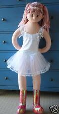 NEW Girls Ballet Lace Ribbon Tutu Dance Costume - Wht S