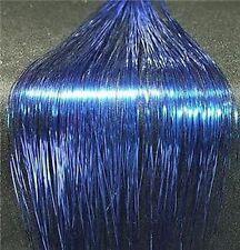 "240 STRANDS 40""SHINY BLUE SILK HAIR TINSEL,SALON, #9"