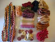 Hand Dyed trims,grab bag,cotton ric rac,twill tape, cotton chenille trim,buttons