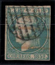 P133208/ SPAIN – ISABELLA II - EDIFIL # 16 USED CERTIFICATE – CV 800 $