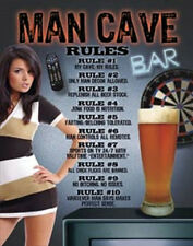 Man Cave - Rules  Vintage Style Metal Signs Man Cave Garage Decor 69