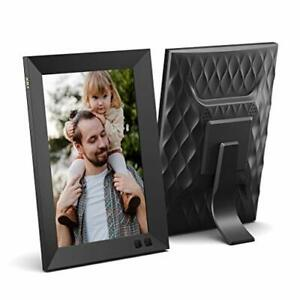 NIX 8 Inch HD Digital Photo Frame - Portrait or Landscape Stand, Auto-Rotate,