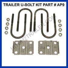 "Trailer U-Bolt Kit - 3"" x 9/16"" x 7-1/4"", Round Trailer Axle 5,200 - 7,000lb AP9"