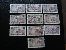 MAROC - timbre yvert et tellier n° 126 x10 obl (A29) stamp morocco (A)