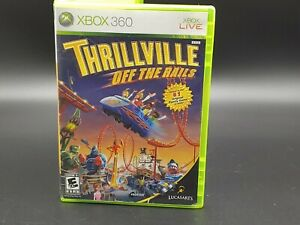 THRILLVILLE OFF THE RAILS XBOX 360 [COMPLETE] Original Owner