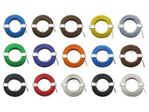 Zwillingslitze Doppellitze 2x 0,08mm² 10m Ring Litze zweiadrig viele Farben