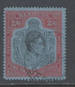 BERMUDA GVI 1942  2s.6d. BLACK AND RED (C)  PERF 14¼ USED  SG 117a