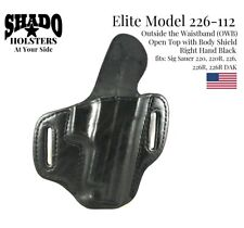 SHADO Leather Holster USA Elite Model 226-112 Right Hand OWB Black Sig Sauer 220
