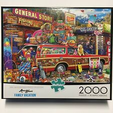 """Buffalo Games Family Vacation 2000 Piece Jigsaw Puzzle Complete 39"""" x 27"""""""