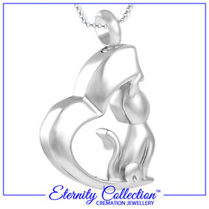 NEW! ECN29 Eternity Collection Cremation Jewellery - 'Silver Cat' Necklace