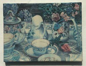 "Susan Rios Canvas Painting ""Tea On The Patio"" COA 8"" X 6"" ArtIst Signed Original"