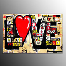 Framed Art Prints On Canvas Love Painting Living Room Wall Art Canvas Painting