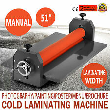 51 Laminating Manual Mount Machine Cold Photo Vinyl Film Hobby Craft Laminator 1