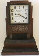 Antique INGERSOLL WATCHES Store Advertising Display Clock Watch Holder Stand