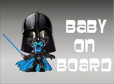 Darth Vader Baby on Board / BLUE PACIE / Vinyl Vehicle Star Wars Kids Sticker