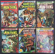 Man-Thing (Lot of 6) Vintage 1973-4