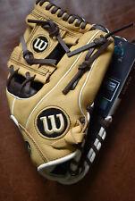 "Wilson A550 11.5"" Baseball Softball Glove Light/Dark Brown RHT NWT FLAW"