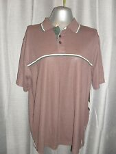 BNWT Toby Lee size XXL mens brown polyester/cotton short sleeved polo top in VGC