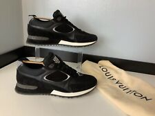 Louis vuitton Black Suede Leather Sneakers Trainers Size 42.5 Uk 8.5 Immaculate
