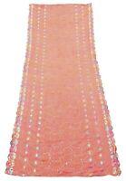 Peach Indian Dupatta Floral Embroidered Shawl Vintage Neck Scarves EMBDP9804