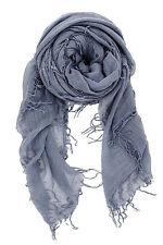 Chan Luu Soft Cashmere & Silk Scarf Wrap Solid CLOUD GREY (Blue Gray) BRH-SC-140