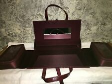 Travel make-up table case tote mirror zippered compartments 14x8 ESTEE LAUDER