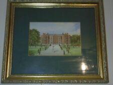Burton Agnes Hall Yorkshire 19th century hand colored lithograph F O Morris FRAM