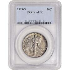 1929-S US Walking Liberty Silver Half Dollar 50C - PCGS AU50