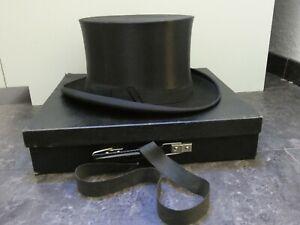 (9857) Original Chapeau Claque, Zylinder, Klapphut Gr. 59  -neuwertig-