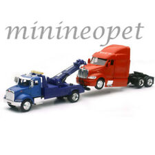 NEW RAY SS-15053 LONG HAUL TRUCKER PETERBILT 335 TOW TRUCK & MODEL 387 CAB 1/43