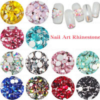 Multi-Color Flat Back Crystal Glass Nail Rhinestones Gems 1.6/1.8/2/2.4/2.8/3mm